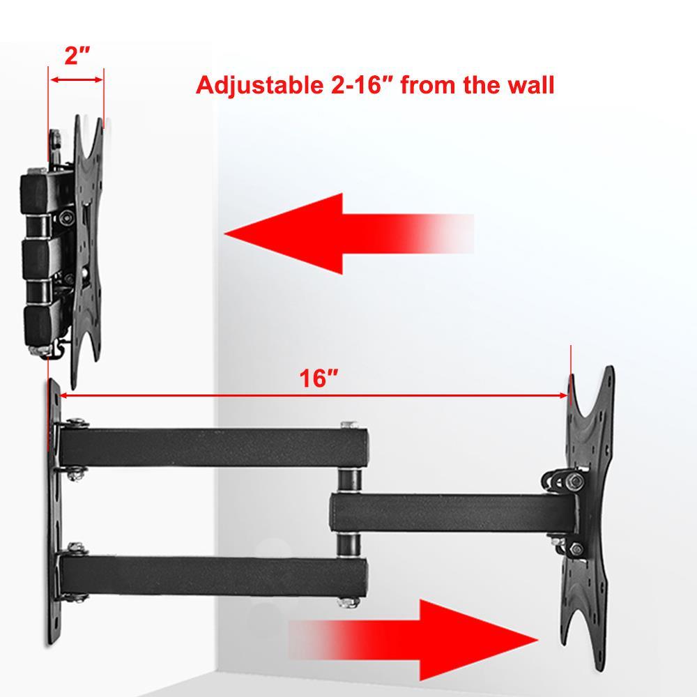 TV Wall Mount Full Motion Tilt Swivel For 19 20 24 27 32 34 37 40 42 in LCD LED